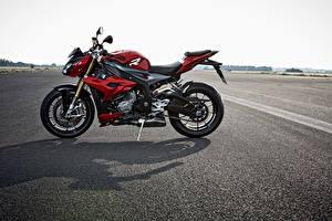 Картинка BMW - Мотоциклы Сбоку Красный S 1000 R Мотоциклы