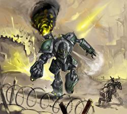 Картинка Битвы Робот Фэнтези