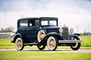 Обои Шевроле Ретро Синий Металлик 1931 Independence Coach авто
