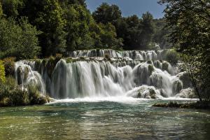 Фотографии Хорватия Парки Водопады Озеро Krka National Park