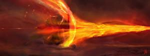 Картинки Dark Souls Огонь Щит Доспехи Мечи Игры Фэнтези