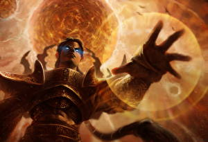 Фотографии 3 Волшебство Колдун Руки Reaper of Souls Игры Фэнтези