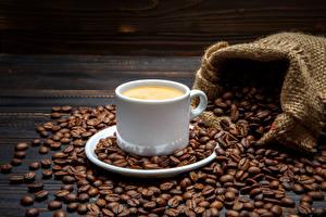 Фотографии Напитки Кофе Чашка Зерна Еда