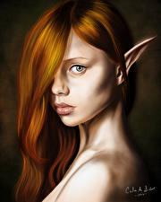 Картинка Эльфы Рыжая Смотрит Волосы Terry