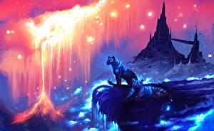 Фотографии Фантастический мир Тигры Волшебные животные Фэнтези