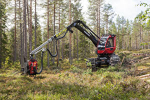 Фотографии Леса Деревья Harvester 2014-17 Komatsu 911