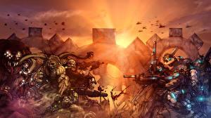 Обои Gears of War Воители Игры Фэнтези