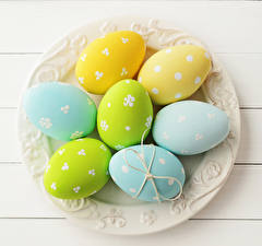Фотографии Праздники Пасха Яйца Тарелка