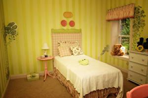 Фотография Интерьер Игрушки Детская комната Дизайн Спальня Кровать Лампа