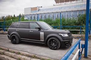 Картинки Land Rover Черный LWB CLR R Lumma Design 2014 L405 Автомобили