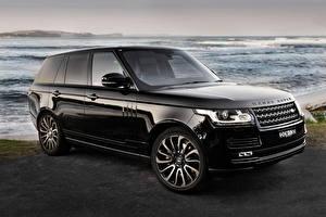 Фото Range Rover Черные Металлик Vogue Автомобили