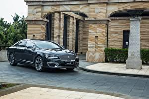 Обои для рабочего стола Lincoln Черный Металлик 2017 MKZ H Автомобили