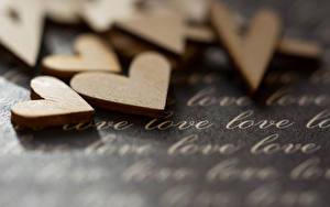Фотографии Любовь Сердце Английский Деревянный
