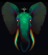 Фото Волшебные животные Слоны Фантастика