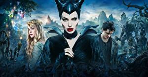 Картинка Малефисента (фильм) Angelina Jolie Фильмы Девушки Знаменитости