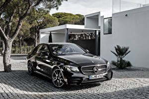 Картинка Мерседес бенц Черный Металлик E-Class W213 AMG Авто