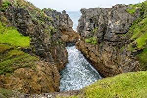 Фотография Новая Зеландия Утес Каньон Залива Pancake Rocks Природа