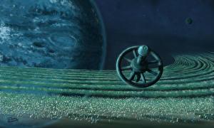 Фотография Планета Орбитальные станции Фэнтези 3D_Графика Космос