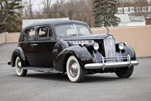 Картинки Винтаж Черный Металлик 1940 Packard 180 Custom Super Eight Formal Sedan Авто