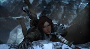 Обои Rise of the Tomb Raider Лара Крофт Альпинист компьютерная игра 3D_Графика Девушки