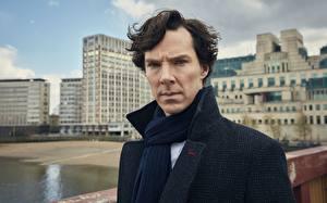 Обои Шерлок Холмс Мужчины Камбербэтч Бенедикт кино Знаменитости