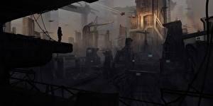 Фотография Star Citizen Фантастический мир Игры Фэнтези Города