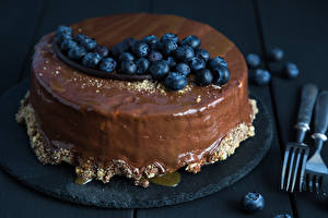 Обои Сладкая еда Торты Шоколад Черника Еда