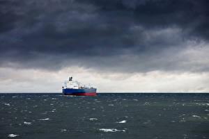 Фотография Танкер Корабли Море