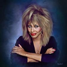 Фотография Tina Turner Рисованные Волосы Девушки