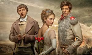 Фотография Тюльпаны Мужчины Трое 3 War and Peace (2016), Paul Dano, Lily James, James Norton Фильмы