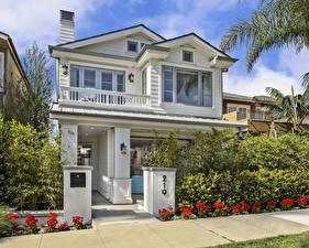 Фотография Штаты Дома Особняк Дизайн Кусты Newport Beach
