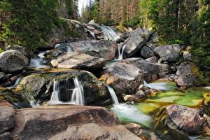 Фотографии Водопады Камни
