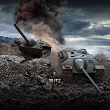 Фотографии World of Tanks Самоходка Немецкий Blitz, E-25 Игры