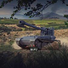 Картинки World of Tanks Самоходка Немецкий Blitz, Grille 15 компьютерная игра