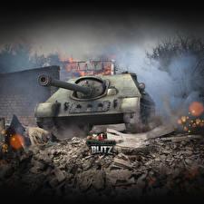 Фото World of Tanks Самоходка Российские Blitz, SU-122-44 Игры