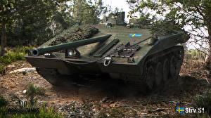 Обои World of Tanks САУ Strv S1 Игры