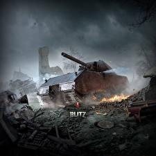Фотография World of Tanks Танки Немецкий Blitz, Maus
