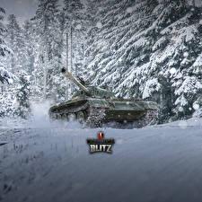 Картинка WOT Танки Китайские Снег Blitz, Type 59 Игры
