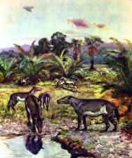 Обои Древние животные Зденек Буриан Hyrachius eximius Животные