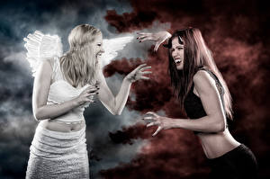 Картинки Ангелы Демоны Вампиры Девушки