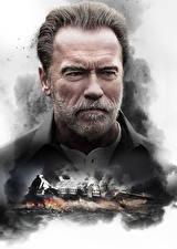 Картинки Arnold Schwarzenegger Мужчины Борода Лицо Смотрит Aftermath (2017) Кино
