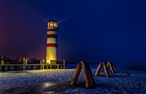 Фотография Австрия Маяки Ночь Podersdorf