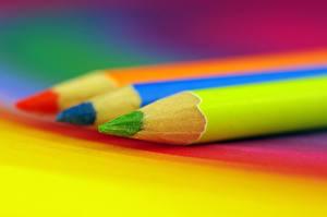 Фото Вблизи Карандаши Разноцветные