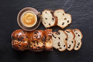 Фотографии Кофе Выпечка Капучино Хлеб Чашка