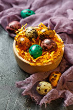 Картинка Пасха Праздники Яйца Солома