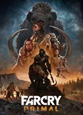 Обои Far Cry Primal Мамонты Мужчины Шаман Копья Игры