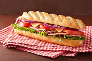 Фотография Быстрое питание Бутерброды Булочки Сэндвич