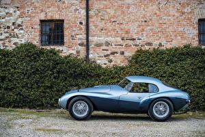 Картинки Ferrari Винтаж Сбоку Голубой Металлик 1950 166 MM-212 Export Fontana Berlinetta  l Uovo Машины
