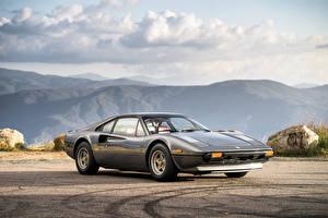 Картинки Ferrari Старинные Серый Металлик 1976-78 308 GTB Acciao Pininfarina
