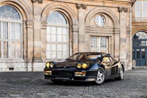 Обои Феррари Старинные Черный 1984-87 Testarossa Pininfarina Автомобили